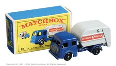 Matchbox Regular Wheels No.15c Dennis Refuse Truck.
