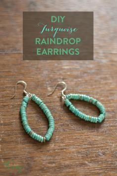 DIY Tutorial DIY Crochet DIY Yarn / DIY Crochet Teardrop Wire Earrings - Bead&Cord