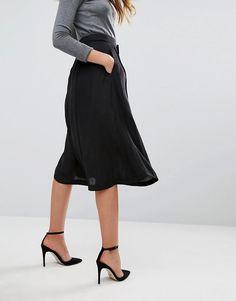 Mango   Mango Satin Midi Skirt
