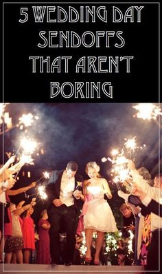Out with the old and in with the new! Bubbles are the new confetti! Sparklers add a statement to your evening get sendoff! Flower petals instead of rice! These are just a few of eBay's choices for wedding day sendoffs that are far from boring! Read on to find more!