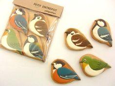 Petit Entrepot bird icing cookies 焼き菓子屋プティ・アントルポ アイシングクッキー 野鳥