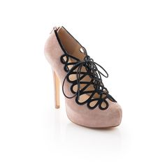 Lorena - This 20's inspired lace-up pump is a show stopper.