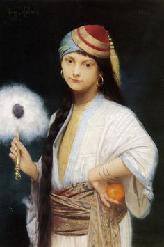 The Feathered Fan - 1884 - Jules Joseph Lefebvre (french painter)