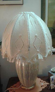 Lampada, paralume maglia, lavabile, estraibile, fatto da me.