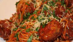 (oranje) Spaghetti Met Gevulde Gehaktballen !