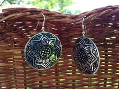 Sun Medallion Earrings handmade in India by impoverished people striving to change their story and break the cycle of poverty. Fair Trade.