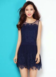 Blue Day Dress - Bqueen Blue Rretro Embroidery Dress