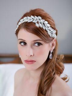 Gold, Silver, Crystal Leaves Bridal Headpiece, Rhinestone, Crystal Bridal Hair Comb, Wedding Headband, Bridal Hair Accessories, STYLE 011