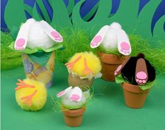 4 Awesome Easter Crafts To Do With Your Kids Pink Crafts, Bunny Crafts, Foam Crafts, Crafts To Do, Craft Foam, Easter Crafts For Adults, Easter Ideas, Orange Craft, Small Flower Pots