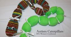 Autism Caterpillars are used by schools and other agencies who teach children with Autism.  These simple, soft, and darling caterpillars...