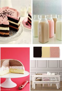 Oh give me a reason!  Love this!  If I had a little girl I'd do a whole neopolitan party!  Maybe a baby shower in the future.