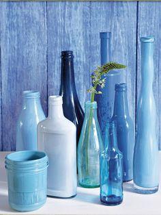 Cerámicas y cristales azules