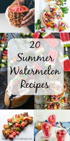 20 Summer Watermelon Recipes - An Unblurred Lady Watermelon Cupcakes, Grilled Watermelon, Watermelon Lemonade, Grilled Peaches, Watermelon Recipes, Summer Treats, Summer Fruit, Whipped Feta, How Sweet Eats