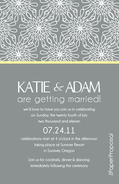 Modern Bloom Wedding Invitation --- --- just needs a mobile version and its complete!   mobile interactive versions of invites at http://missiongomobile.com