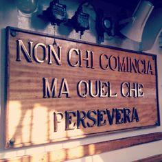 Non chi comincia, ma quel che persevera - sulla nave Amerigo Vespucci