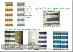 options for making striped drapes
