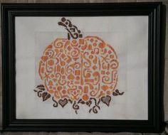 White Willow Stitching - Tribal Pumpkin - Cross Stitch Pattern