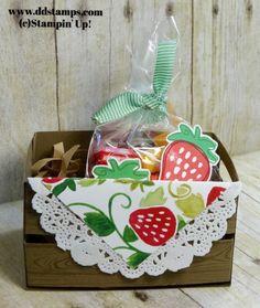 Diane Dimich: Stampin' Up! Fresh Fruit Treat Crate - Hardwood - Fresh Fruit - Fruit Stand DSP