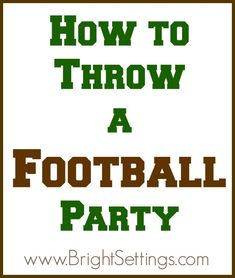 """""""The kids are heading back to school and the days are starting to get shorter, which can only mean one thing—it's almost football season! Here are some tips for throwing a fantastic #footballparty this season!"""""""