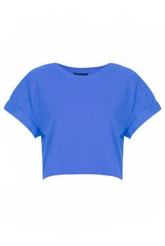 $20 basic roll sleeve crop tee