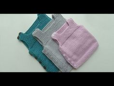 Side Button Easy Baby Vest How? (The beginning Last Lecture) - knitting patterns - knitting Easy Baby Knitting Patterns, Baby Sweater Patterns, Easy Knitting, Knitting For Kids, Knitting Designs, Baby Patterns, Baby Pullover Muster, Knit Vest Pattern, Kids Vest