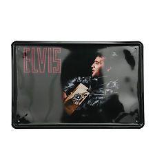 Cuadro de metal impreso vintage ELVIS LED 20x30-