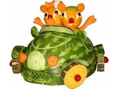 escultura de frutas - Pesquisa Google