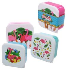 Shop today for Fun Flamingo Design Set of 3 Plastic Lunch Boxes by weeabootique !