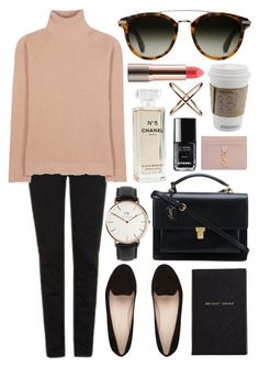 Untitled #642 by clary94 on Polyvore featuring polyvore, Valentino, Topshop, Yves Saint Laurent, Daniel Wellington, Eva Fehren, Chanel, Smythson, fashion, style and clothing