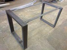 Ossature de table en acier