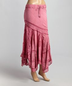 Pink Floral-Bottom Peasant Maxi Skirt...Would love in different color!