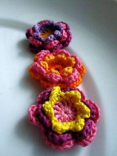 crochet flower appliques