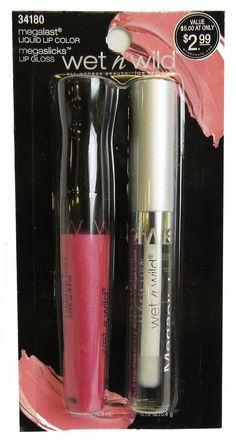 WET n WILD Megalast Liquid Lip Color & Megaslicks Lipgloss - 34180 099