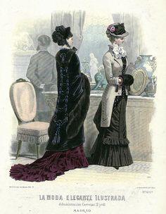 1880. La moda elegante ilustrada. 30 de enero, nº4.