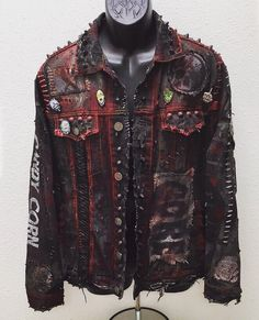Distressed denim jackets from ChadCherryClothing.