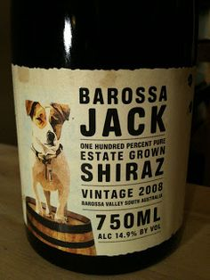 Dolce Drinks: Barossa Jack Shiraz