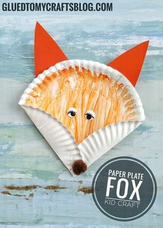 Dr Seuss Inspired - Easy Fox Kid Craft. Fox KidsPreschool CraftsToddler Paper ... & Paper Plate Elephant Kids Craft | Kids Crafts | Pinterest | Craft ...