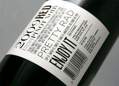 """Red"" wine label (back)"