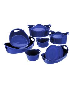 Another great find on #zulily! Blue Rachael Ray 11-Piece Bubble & Brown Bakeware Set #zulilyfinds