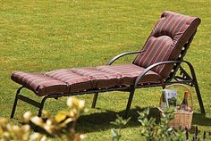 Amalfi Padded Garden Sun Lounger, Set of Two | Absolute Home