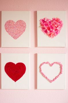 41 Sweet Heart Crafts Ideas For Valentines Day. Valentine's Day is adorned with numerous craft specialties. Handmade crafts infuse Valentine's Day with a special color. Numerous easy-to-make craft. Valentines Day Baby, Homemade Valentines, Valentine Day Crafts, Holiday Crafts, Heart Diy, Heart Crafts, Diy Baby Gifts, Valentines Day Decorations, Valentine's Day Diy