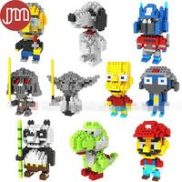 New 10 Styles Models Building Blocks with Box Mario Yoshi Optimus Prime Yoda Darth Vader Kid Toys Gifts Collection Free Tracking