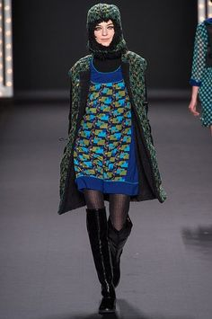 Fall 2013 Runway Report: The Best Hats From New York Fashion Week | StyleCaster// Anna Sui