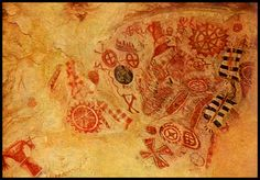native american cave paintings | Ancient peoples adorned these cave walls using paint made from dirt or ...