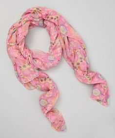 Pink Fawn Scarf. I love that the deer's antlers are blooms of flowers. That would be an awesome tattoo idea as well. I love deer.