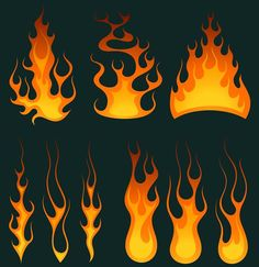Fire flames  designs