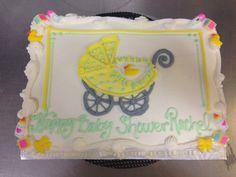 1/4 Sheet Baby Carriage drawing cake