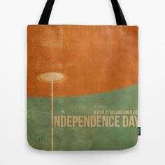 Independence Day inspired movie poster Tote Bag by Dan Howard - $22.00 Vintage Movie Poster. Vintage Movie Poster Design. Graphic Design, Vintage Graphic Art. Movie Poster Design. Independence Day. Will Smith, Roland Emmerich.