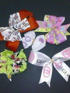 Set of 5 hair bows #DAFFYDUCK #PEPPAPIG #hairbow #hair #bow #chevron