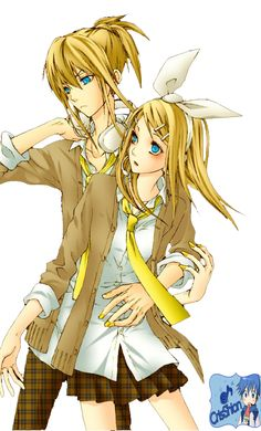Older Rin and Len, maybe?